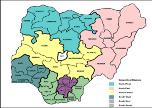 List And Map Of Geopolitical Zones With Their States In Nigeria
